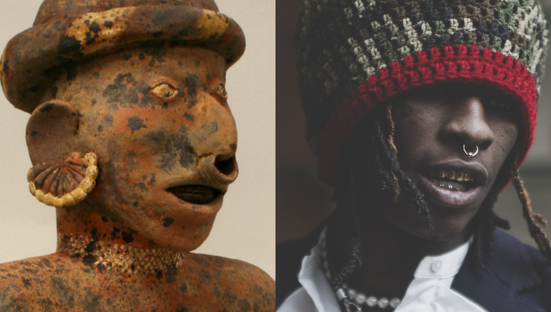 Left: Male Ancestor. 1st–4th century. Mesoamerica, Nayarit . Right: Young Thug