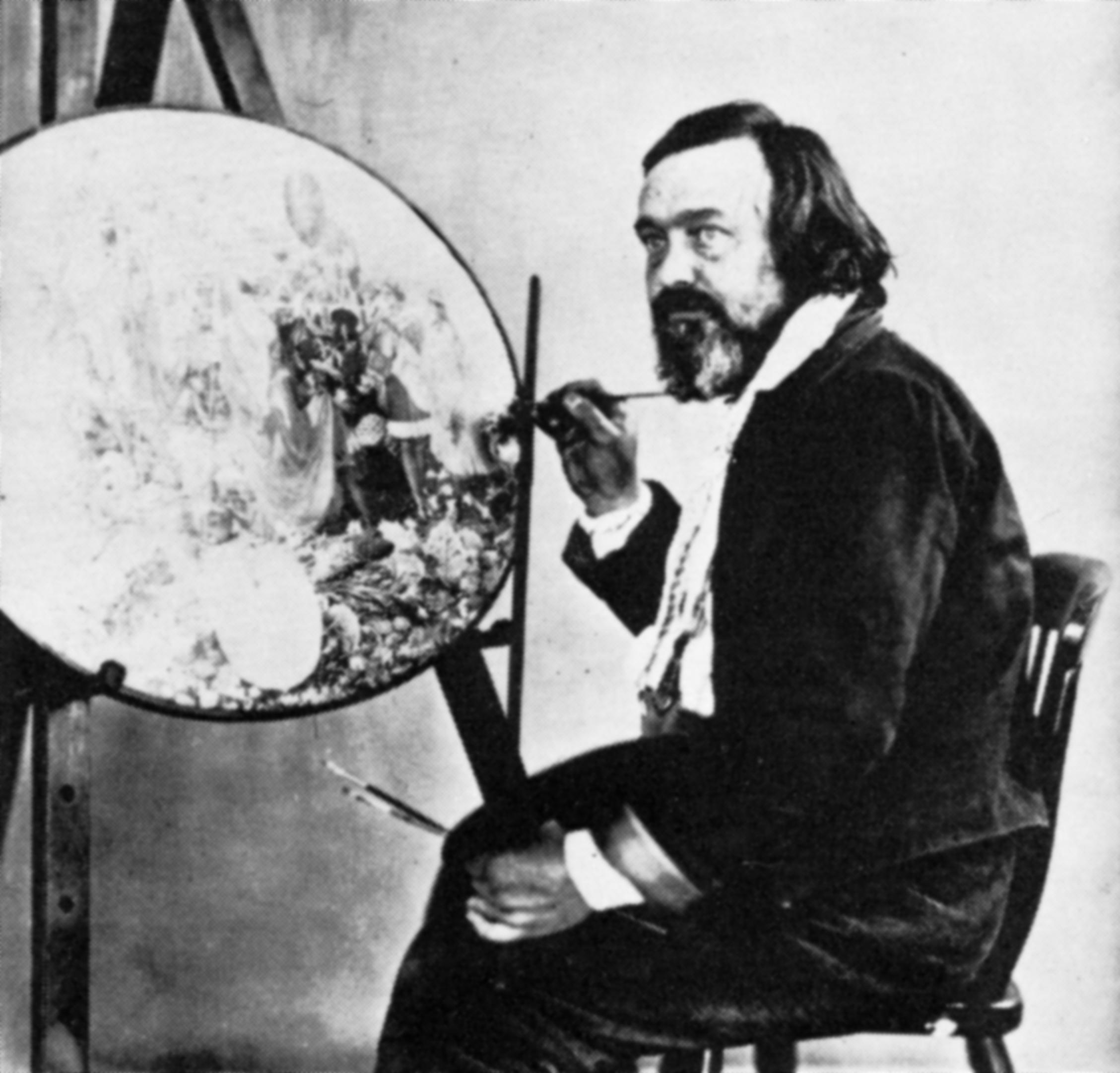 Richard Dadd pintando en el psiquiátrico