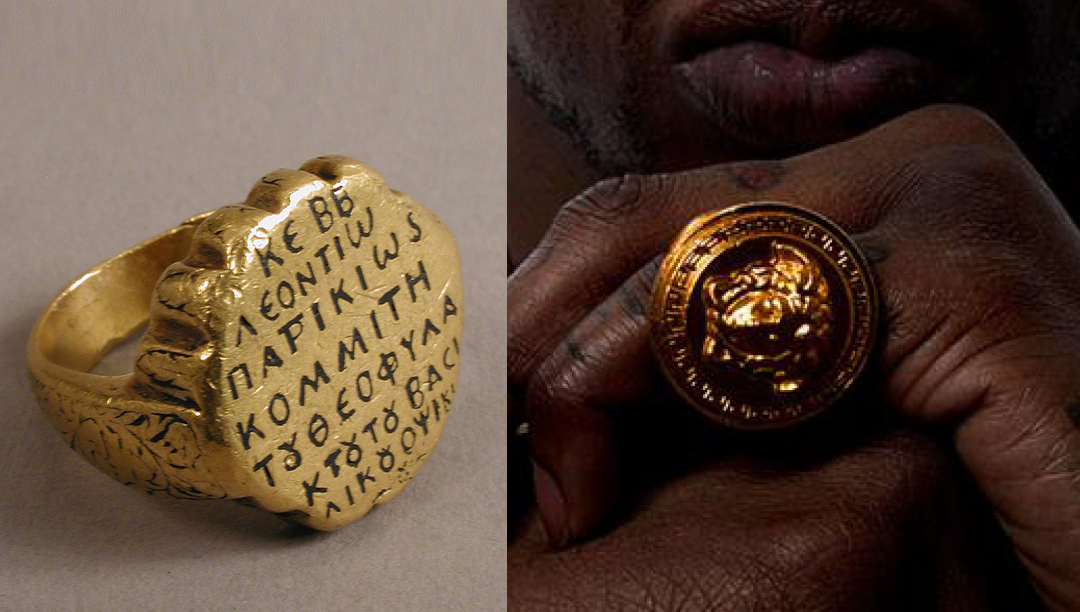 Left: Ring of Leontios ca.1000 - Byzantine Right: 2 Chainz