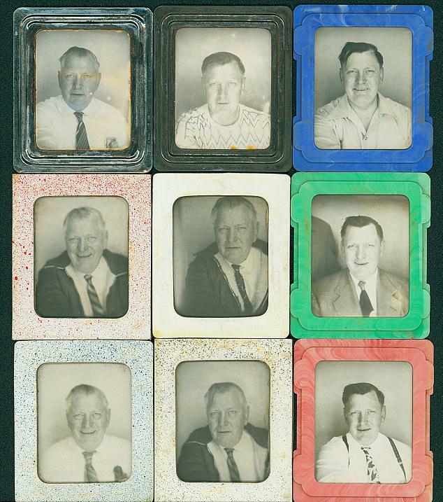Nueve de los 445 retratos - Collection of Donald Lokuta
