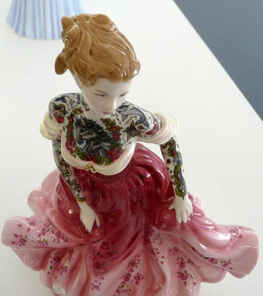 Una de las 'Painted Ladies' que se exponen en la galería L.J. de París