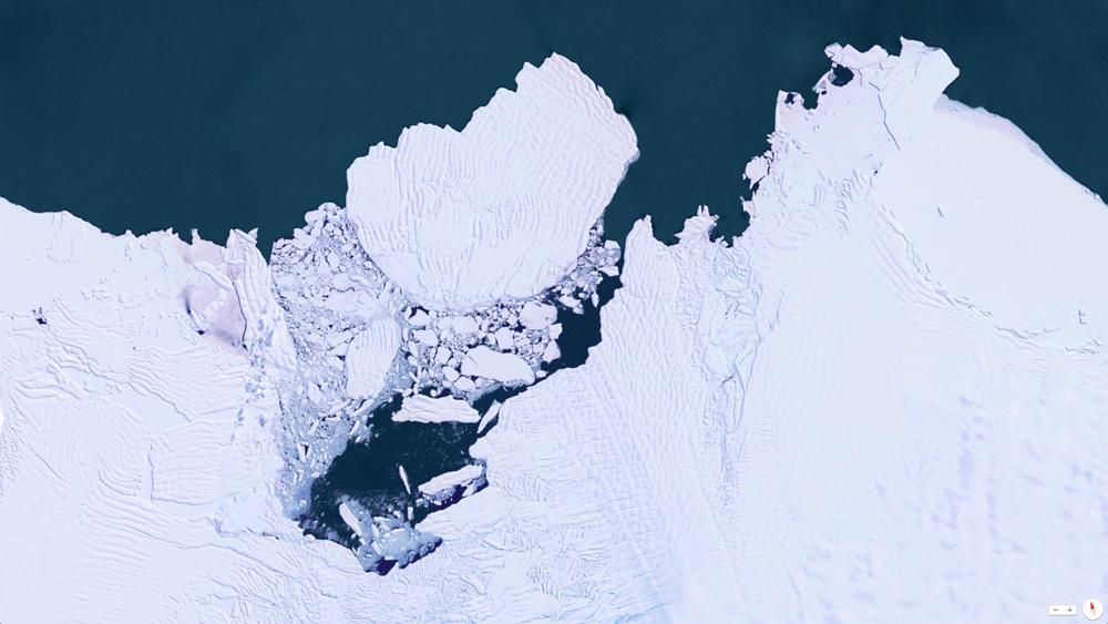 Visión de satélite que muestra cómo se deshiela la zona oeste de la Antártida - © 2014, Daily Overview