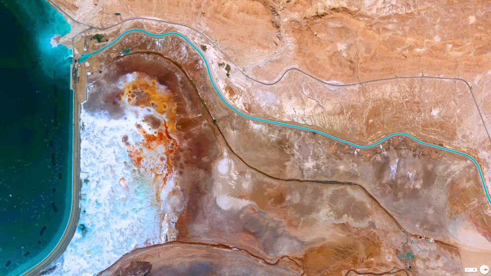 Retroceso del mar Muerto - © 2014, Daily Overview