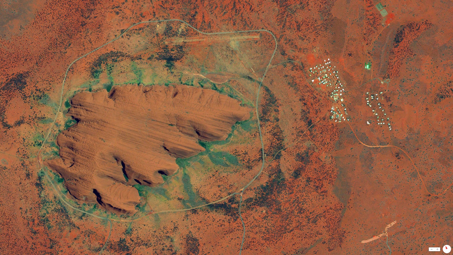 Uluru, Australia -  © 2014, Daily Overview