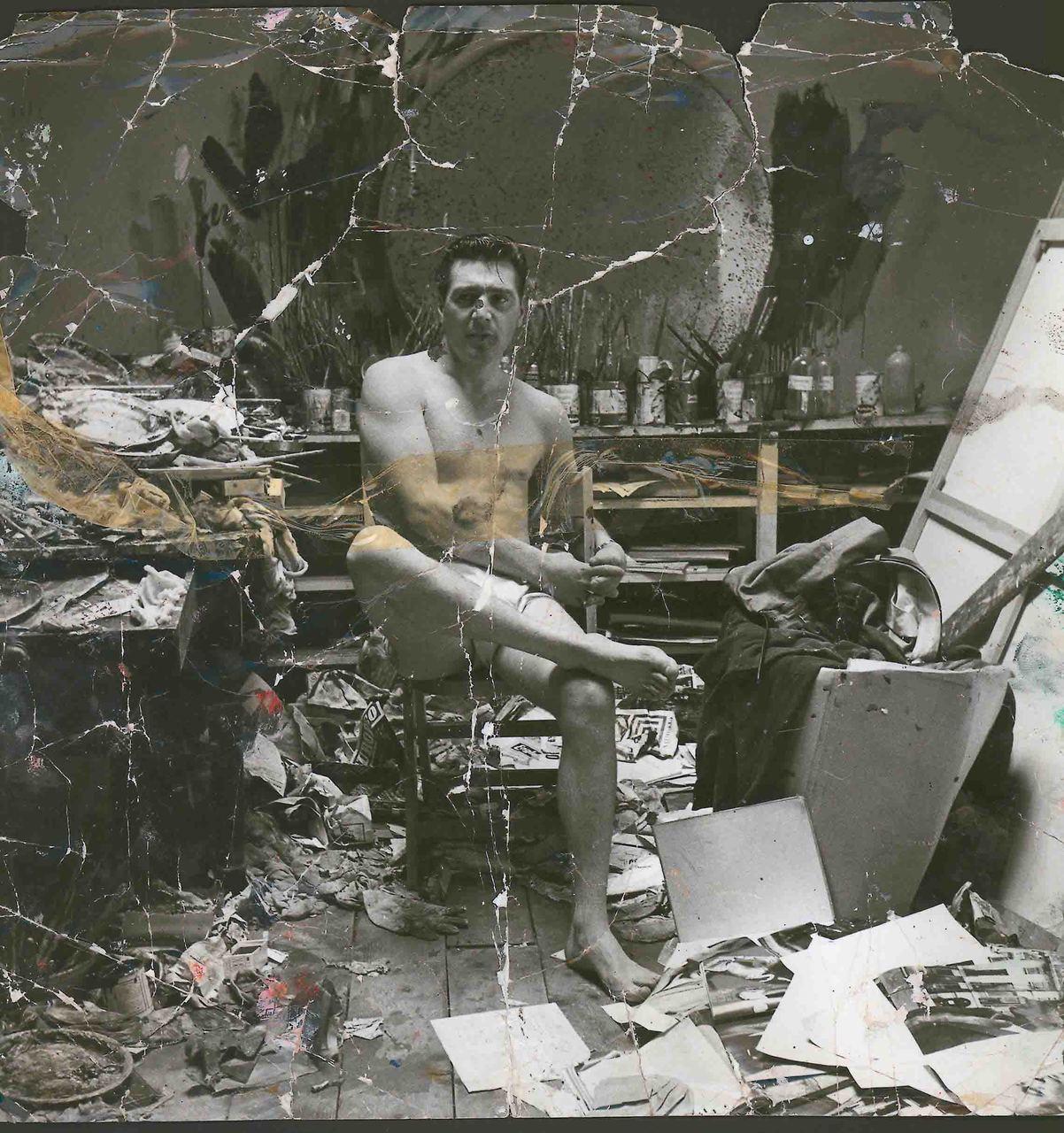 George Dyer retratado por Bacon en el estudio del pintor