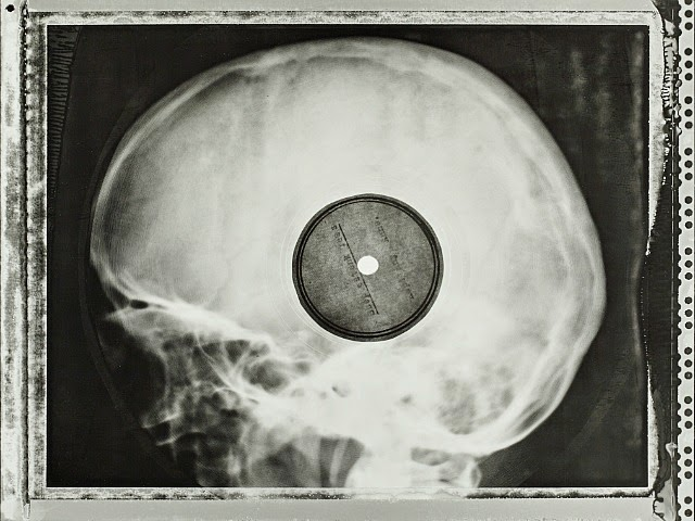 Placa de rayos x convertida en disco