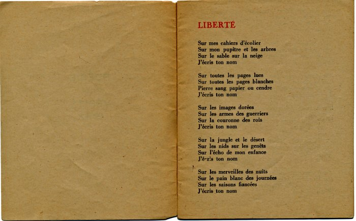 "Edición clandestina de ""Liberté"", 1942  (Coll. Musée de la Résistance nationale)"