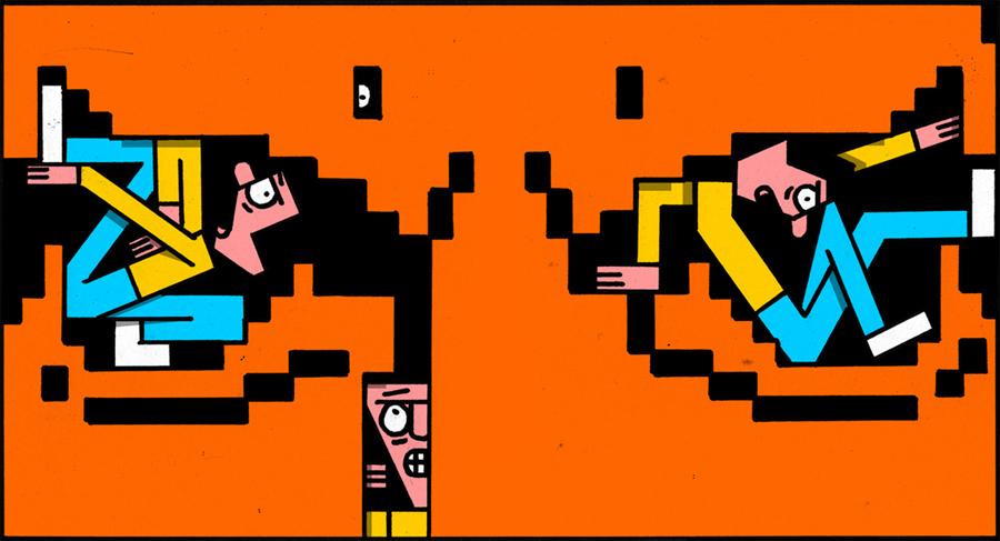 Ilustración de Jay Wright para el virus Madman