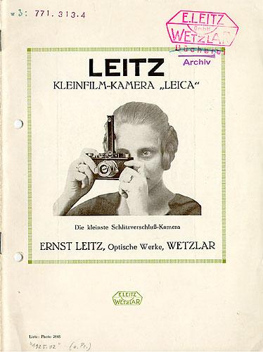Publicidad de la óptica Leitz