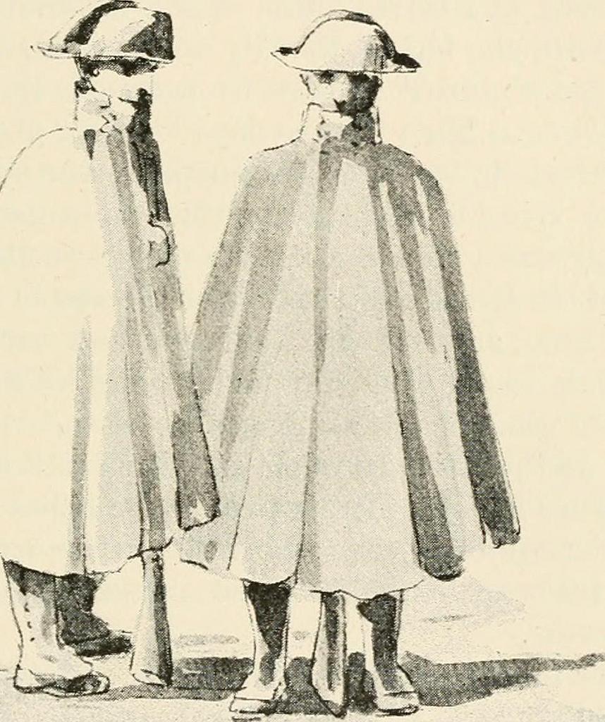 """Pareje de guardias civiles que ilustran el libro """"Wild Spain"""",  1893"""