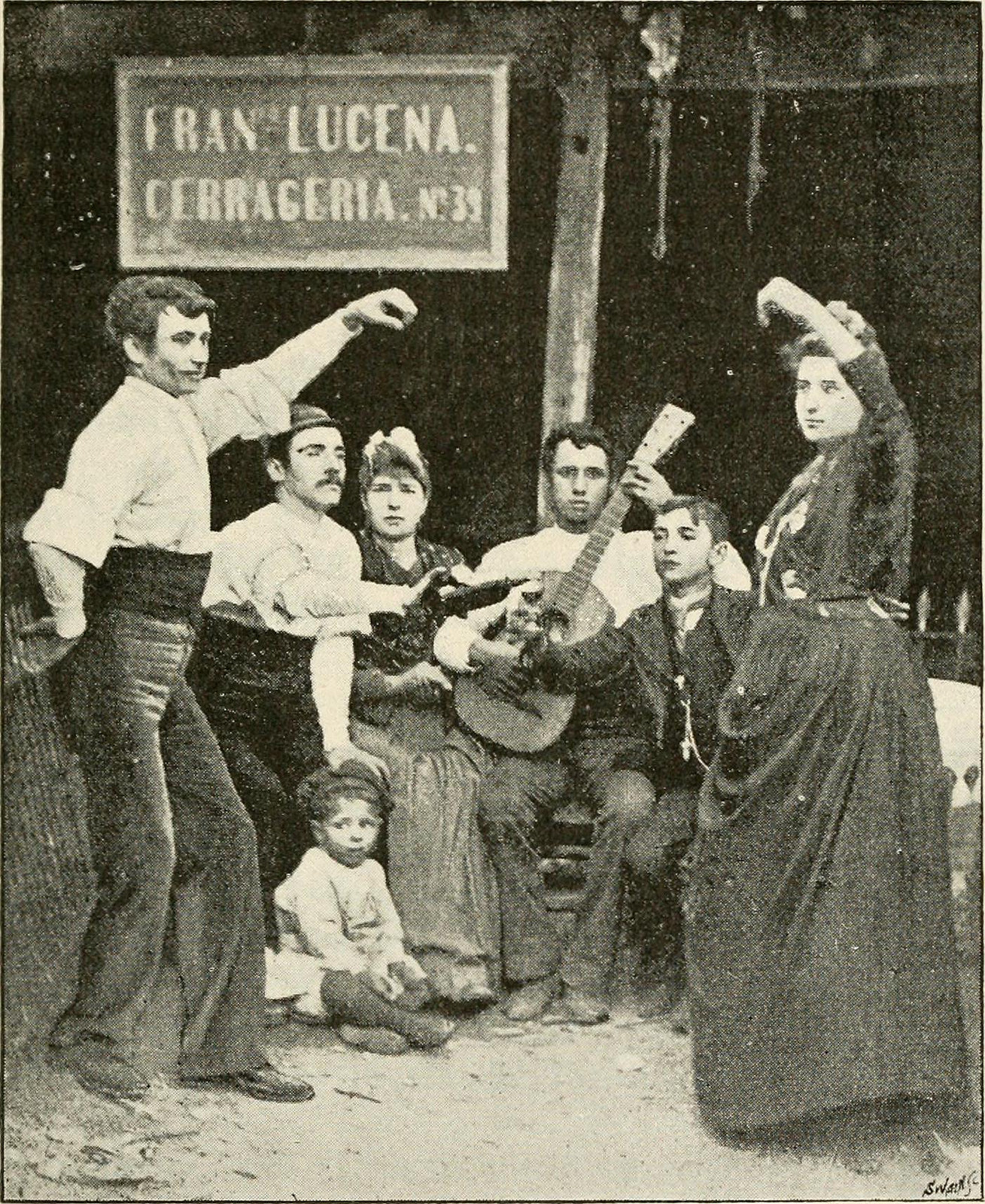 """""""Dance and guitar"""", 1893"""