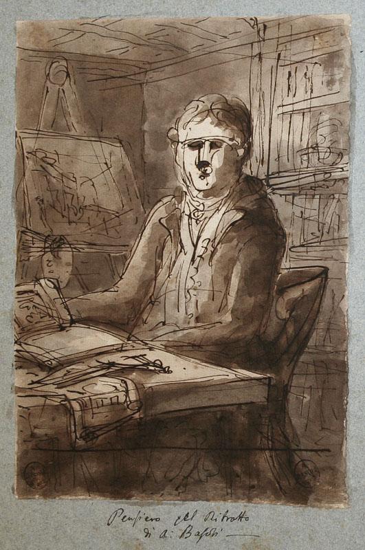 """Antonio Basoli, """"Autoritratto"""", 1821-22"""