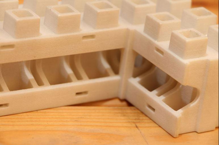Prototipo de ladrillo para 'Smart Bricks' - Foto: Kite Bricks