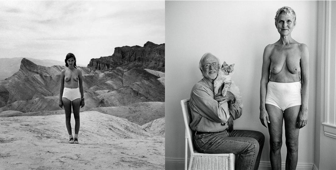 Izquierda, 1974, 29 años - Derecha, 2013, 69 años © Lucy Hilmer