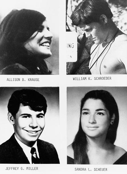 Los cuatro estudiantes asesinados por la Guardia Nacional en 1970 - Foto: may4archive.org