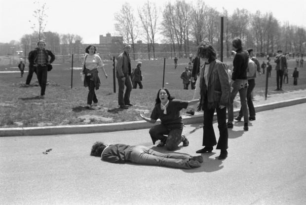 Mary Ann Vecchio grita ante el cadáver de su compañero Jeffrey Miller. Foto: © John Filo