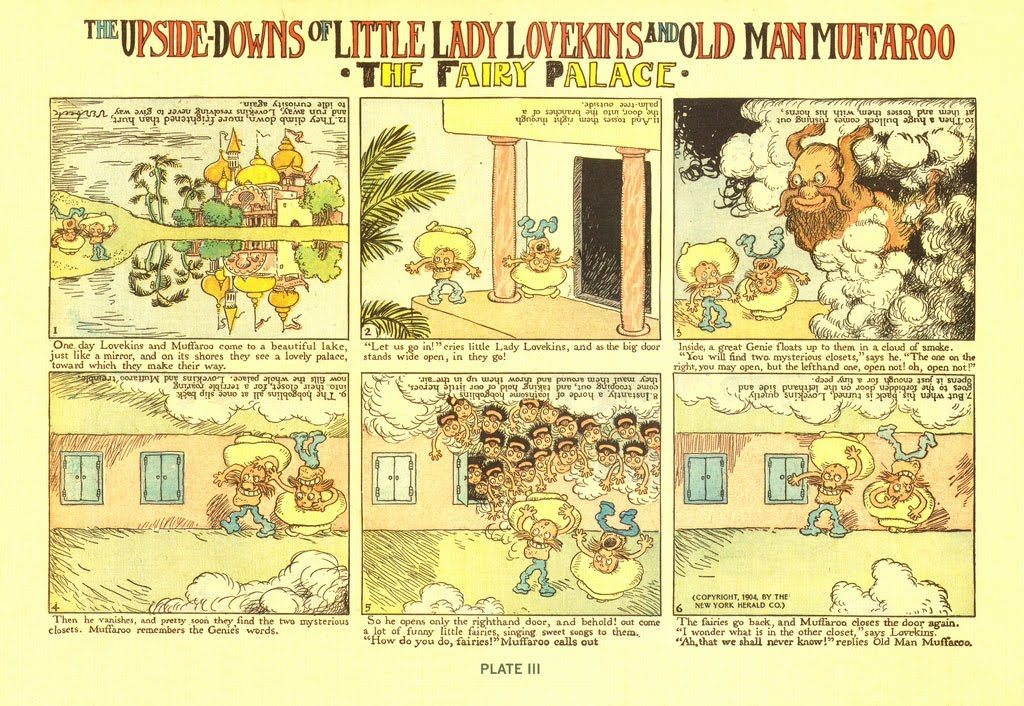'The Upside Downs of Little Lady Lovekins and Old Man Muffaroo' - Gustave Verbeek