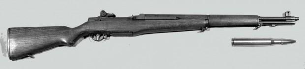 Rifle M1 Garand y munición .30-06 Springfield utilizados en Kent - Fotos: Wikipediia Commons