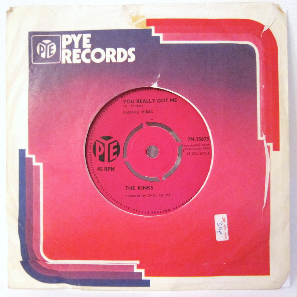 "Primere edición del 'single' con ""You Really Got Me"", agosto de 1964 (Pyle Records)"