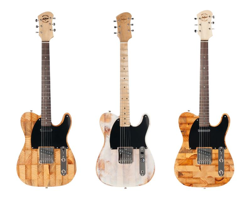 Tres de las guitarras eléctricas - Courtesy Wallace Guitars