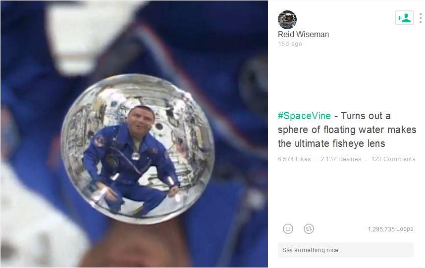 Captura de pantalla la cuenta del astronauta en Vine