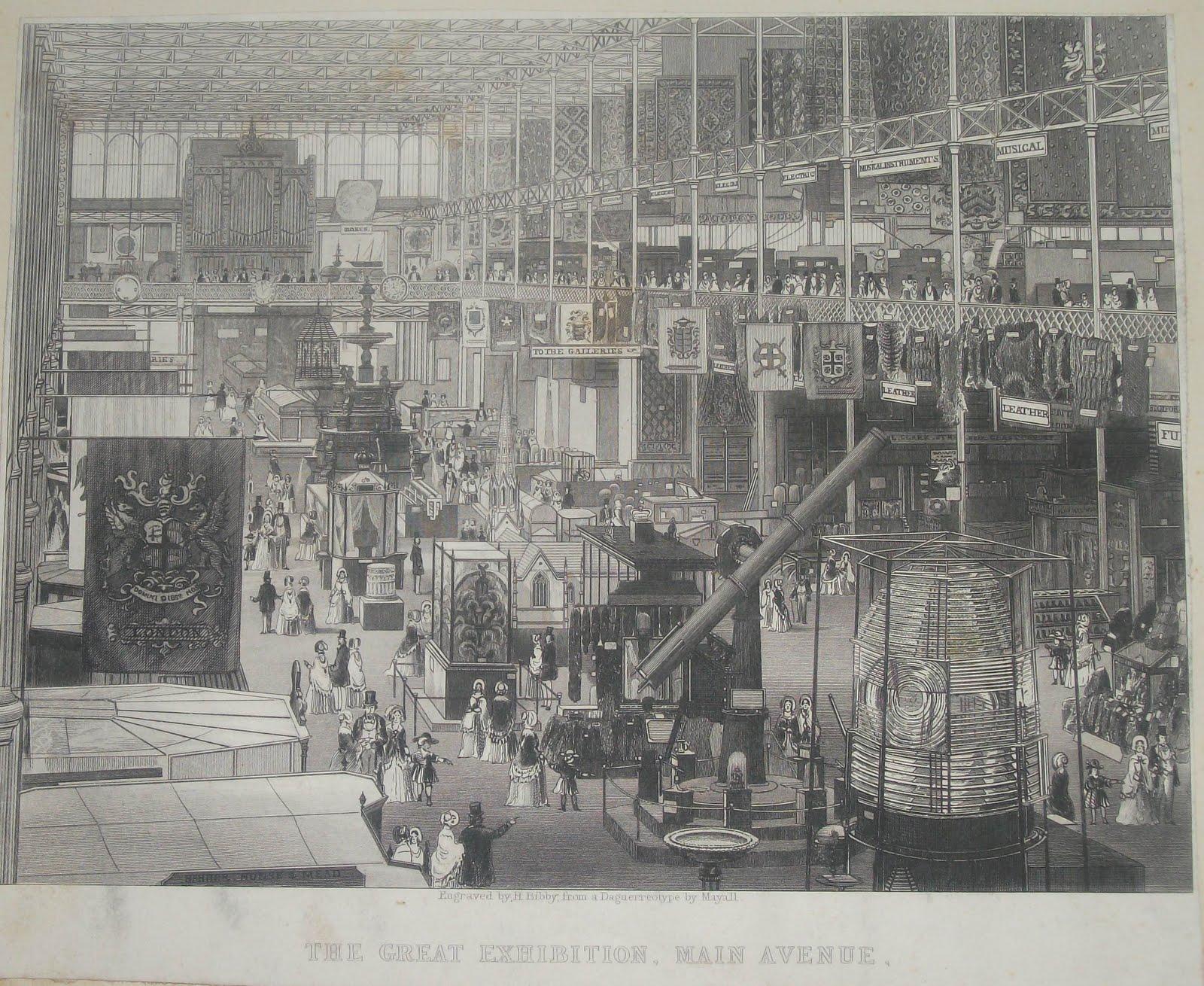 Pasillo principal de la Gran Exposición, una ilustración creada durante el evento a partir de un daguerrotipo