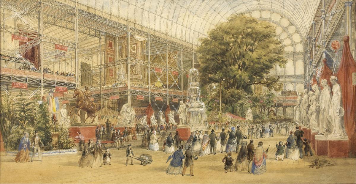 Ilustración del día de la inauguración de la Gran Exposición en 1851 - Thomas Abel Prior