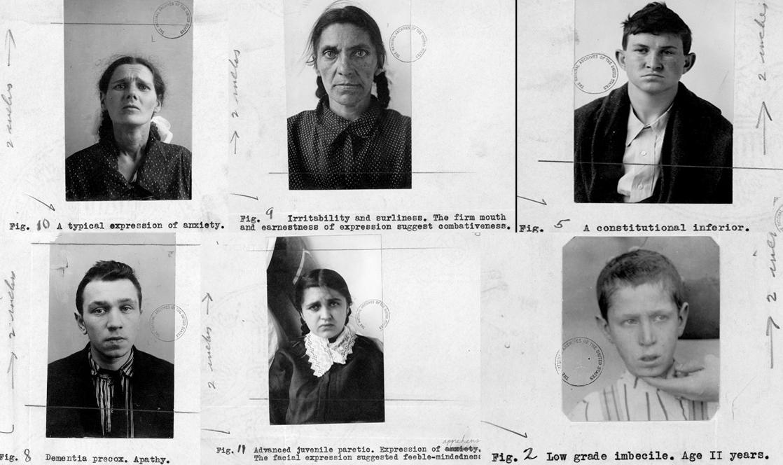 Fichas de pacientes psiquiátricos del hospital para inmigrantes