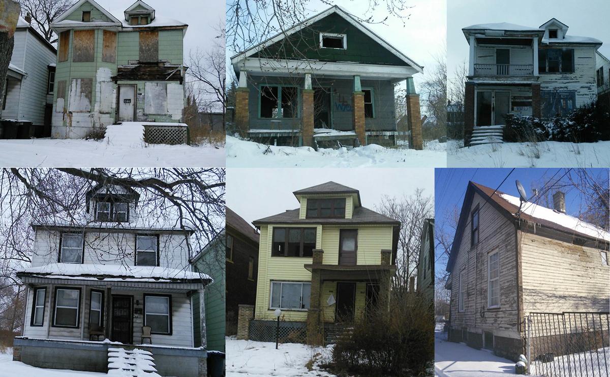 Casas abandonadas de Detroit - Foto:  GooBing Detroit
