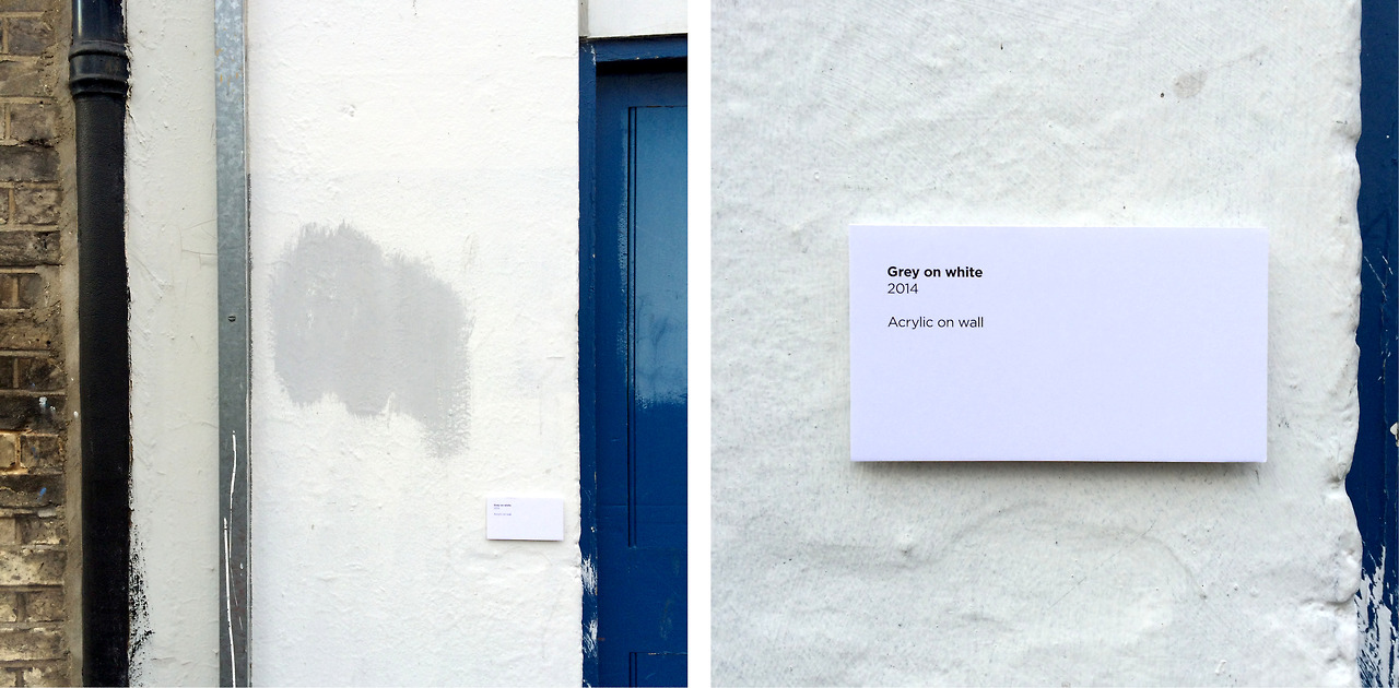 'Grey on White'. 2014. Acrylic on Wall - Neglected Works