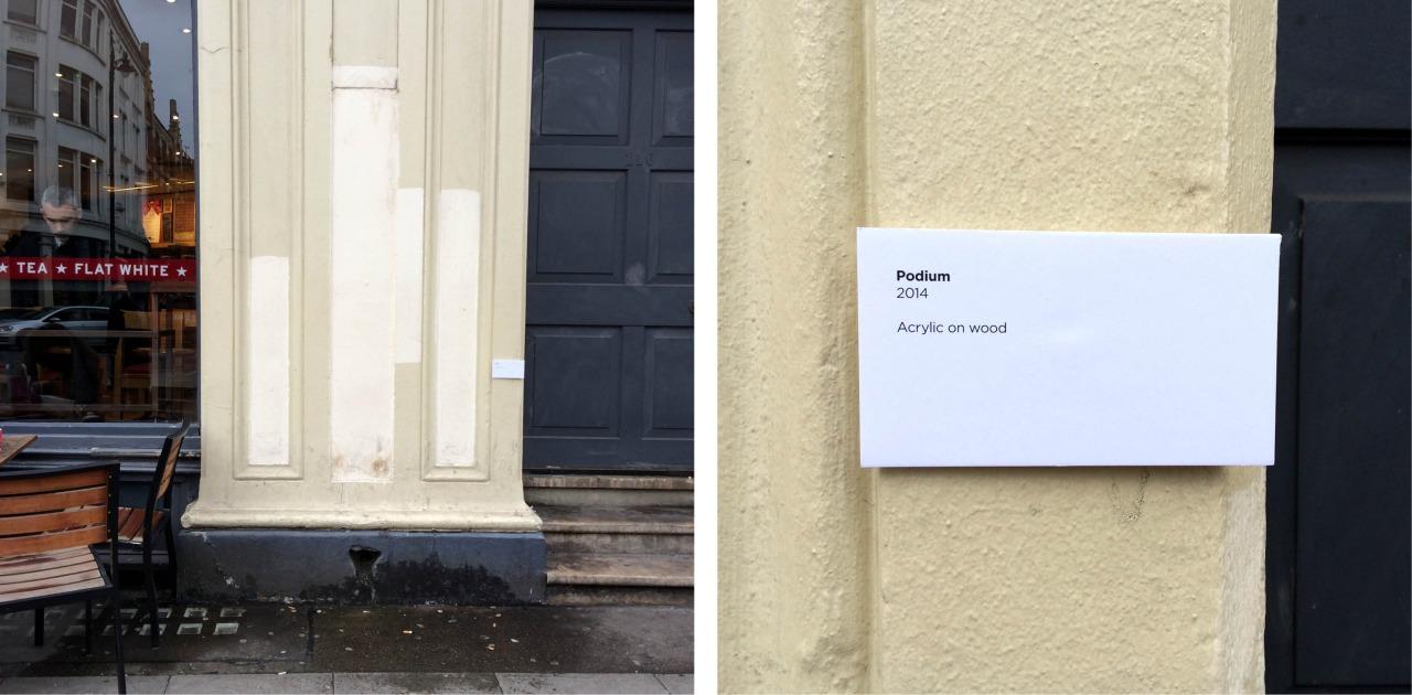 'Podium'. 2014. Acrylic on wood- Neglected Works