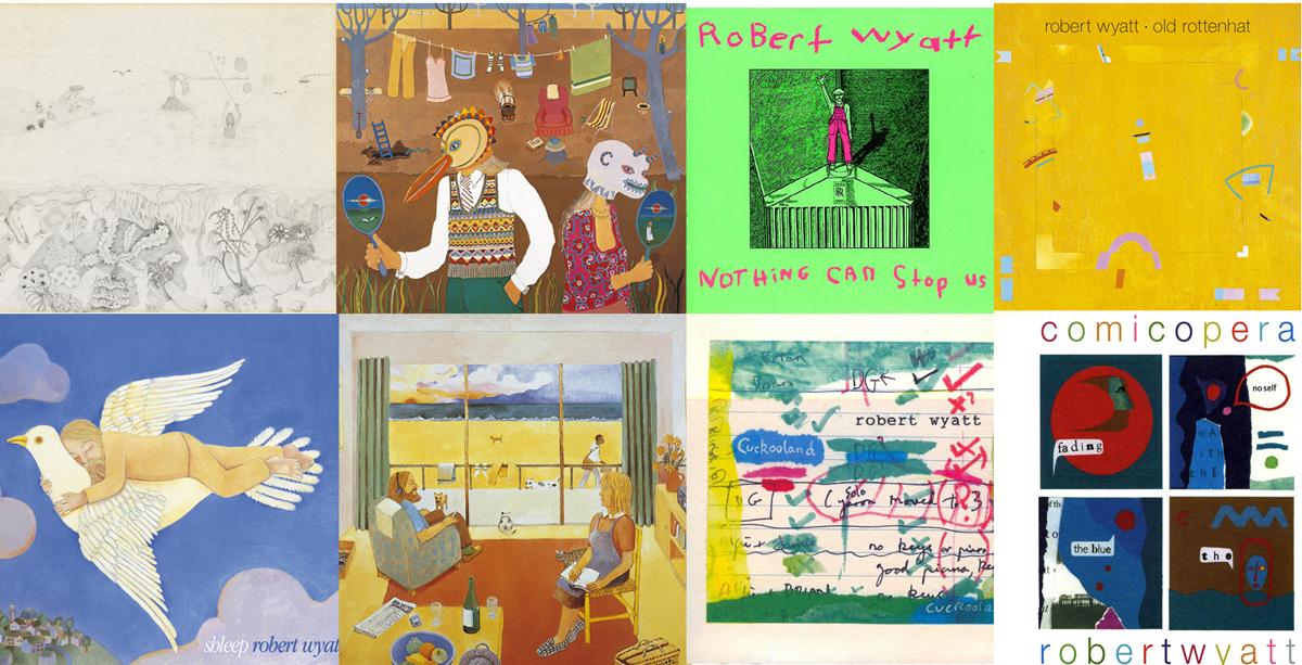 Algunos de los discos de Robert Wyatt