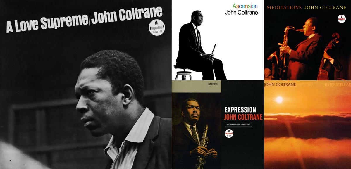 Algunos de los discos de John Coltrane grabados en los últimos cuatro años de su vida