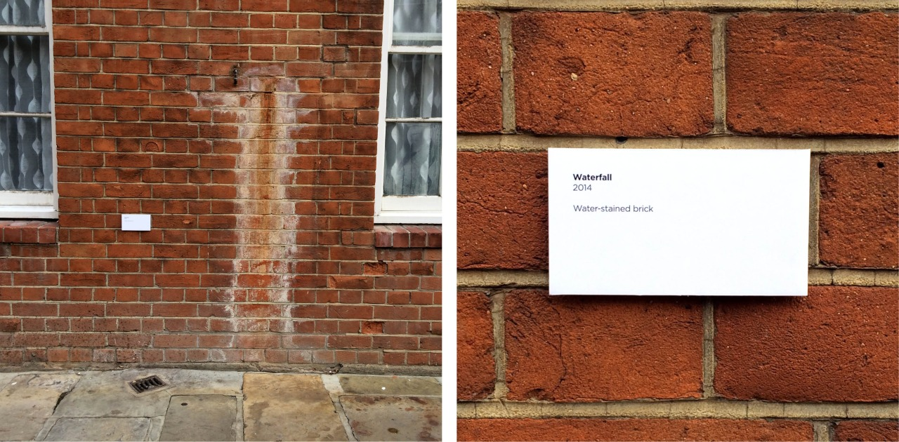 'Waterfall'. 2014. Water-stained brick - Neglected Works