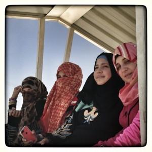 Desde la izquierda, Rahm, Hiba, Samar y Jana - Inside Za'Atari