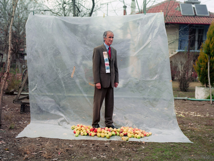Man With Apples © Petros Efstathiadis