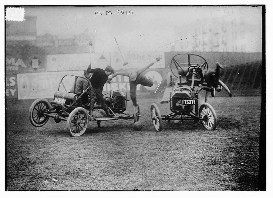 Bain News Service, publisher. Auto Polo, between ca. 1910 and ca. 1915