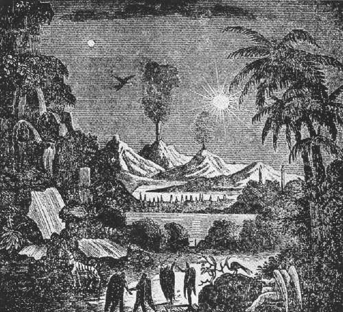 Escena lunar publicada por el neoyorquino 'Sun' en 1835