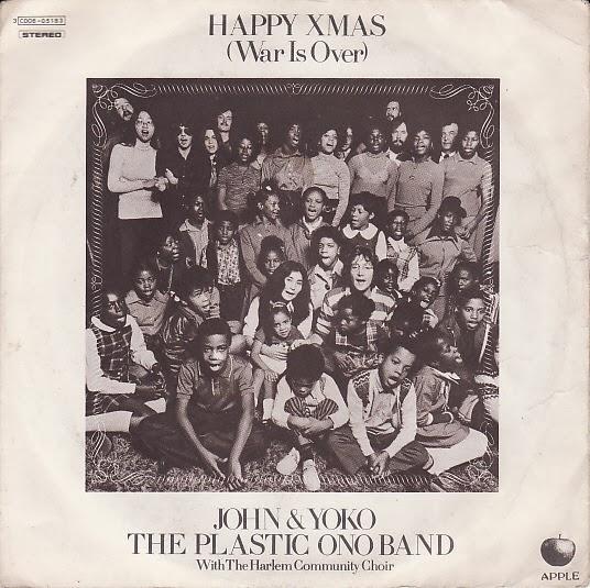 """Carpeta del disco sencillo """"Happy Xmas (War Is Over)"""", 1971"""