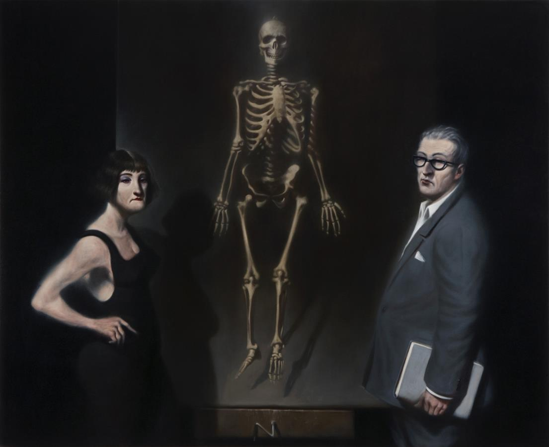 'Two Figures with a Painting II', 2012 - Ken Currie