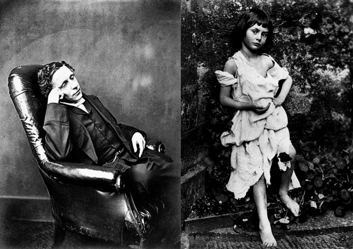 """Lewis Carroll su retrato a Alicia Liddle (6 años), retratda """"como una vagabunda"""""""