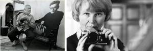 Izquierda, Phil Stern, Foto: Los Angeles Times / Derecha, Jane Bown – Autorretrato © Jane Bown / The Observer