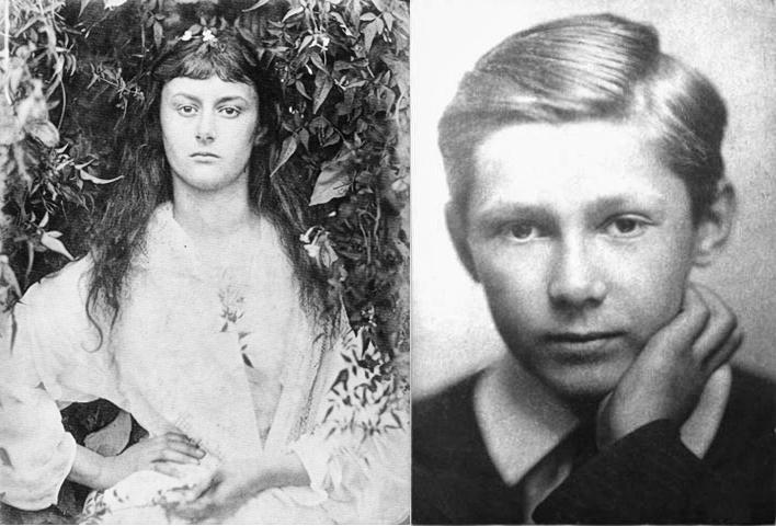 Alicia Liddel (foto: Julia Margaret Cameron) y Peter Llewelyn Davies