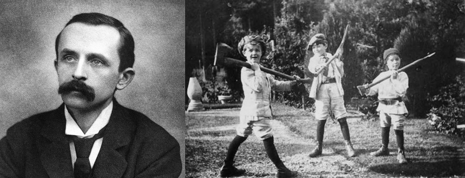 J.M. Barrie y los hermanos Llewelyn Davies