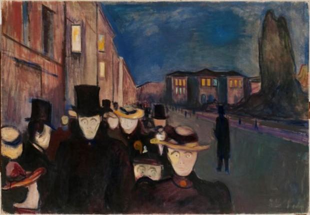 """Aften på Karl Johan"" - Munch, 1892"