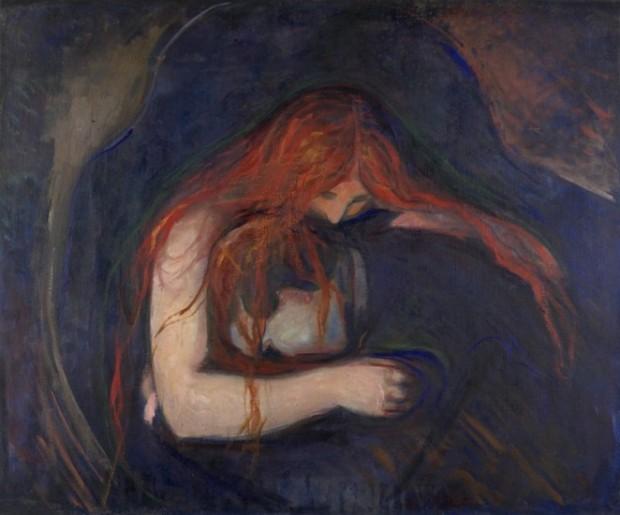 """Vampyr II"" - Edvard Munch, 1895"