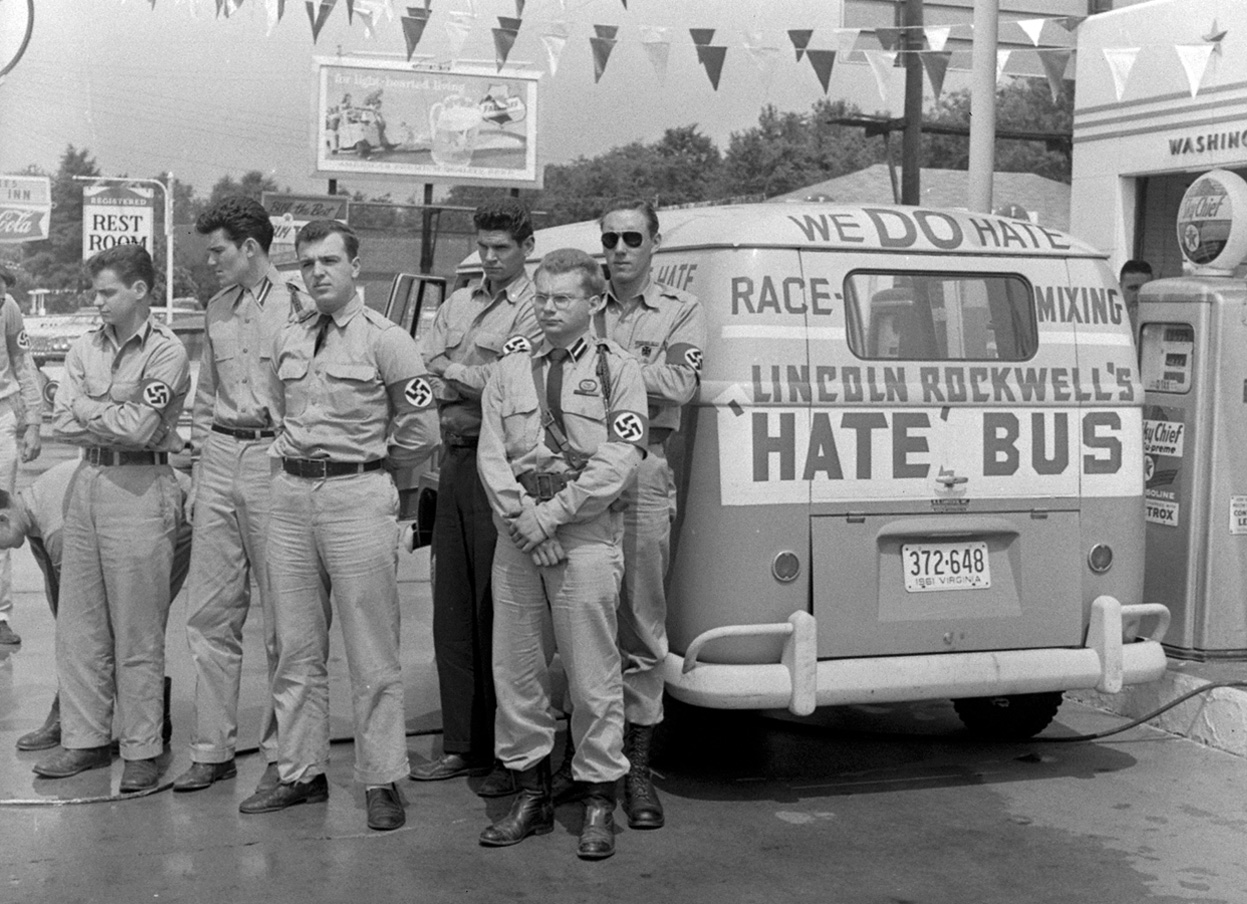 El 'Hate Bus' de Rockwell en 1961