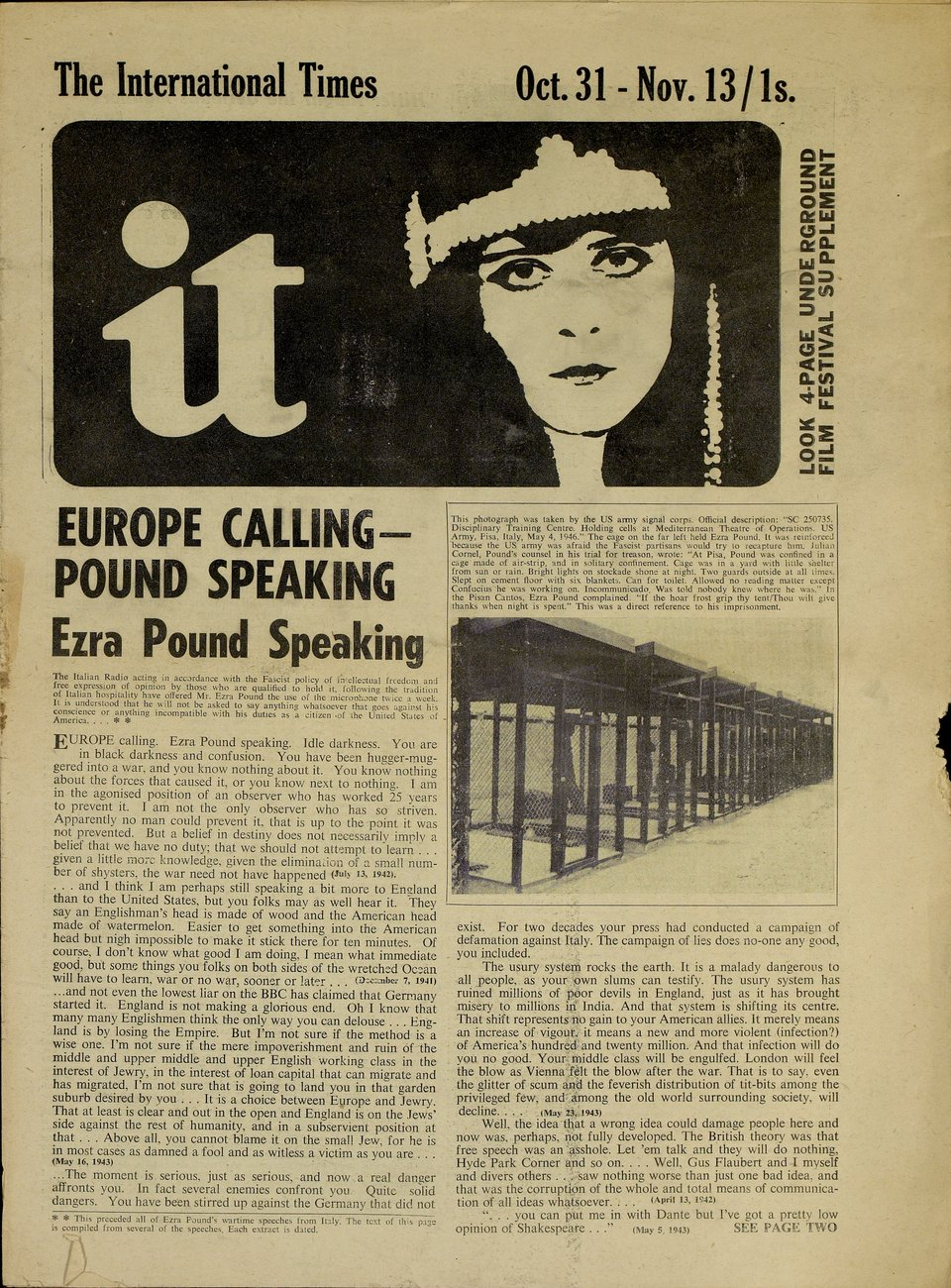 "Número 2 de ""International Times"", octubre, 1966."