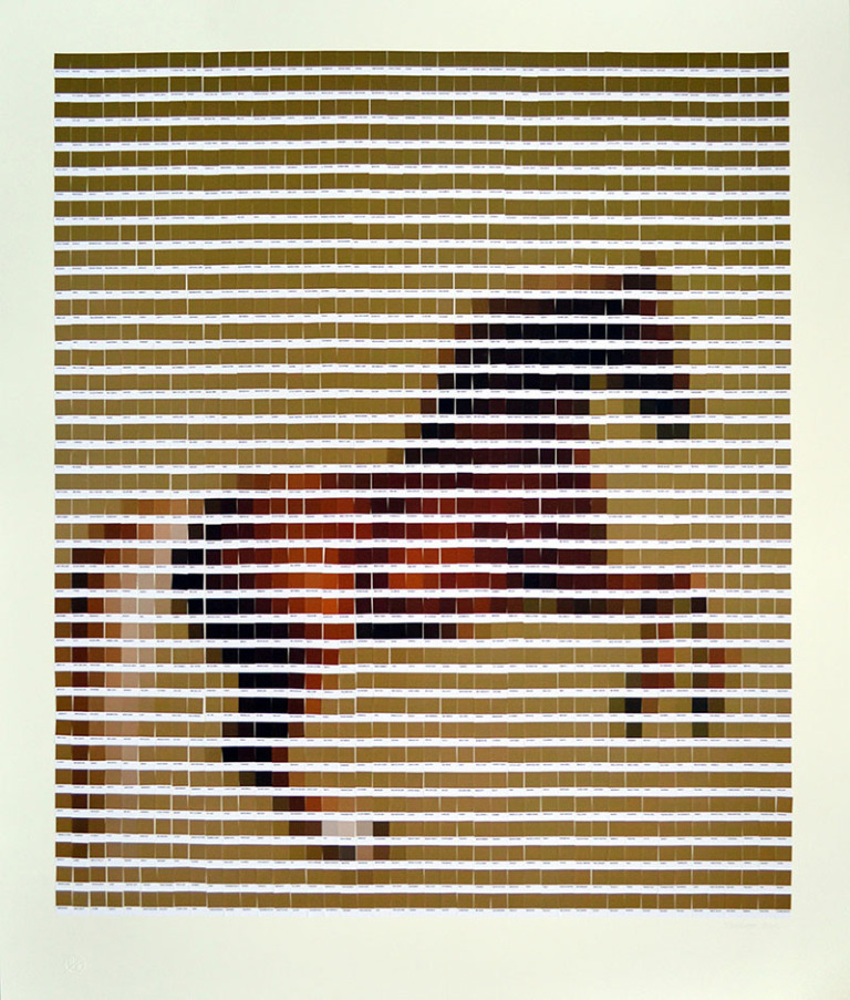 'Whistlejacket', de George Stubbs, reinterpretado por Nick Smith con colores Pantone