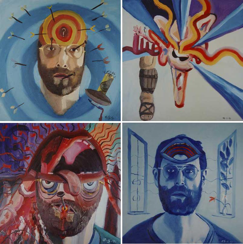 6 de mayo de 1991 (arriba, izquierda), 14 de mayo de 1991 (arriba, derecha), 18 de mayo de 1991 (abajo, izquierda), 23 de mayo de 1991 (abajo, derecha) © The State of Bryan Charnley